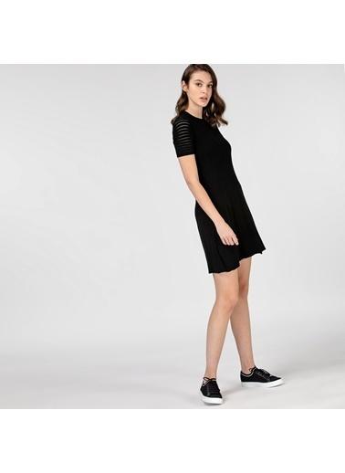 Lacoste Kadın Kısa Kollu Elbise EF0103.03S Siyah